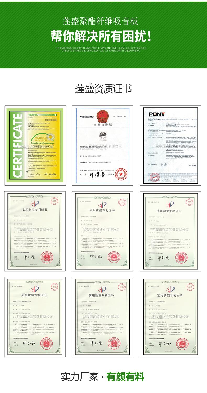 莲盛实业产品专利证书及检验证书